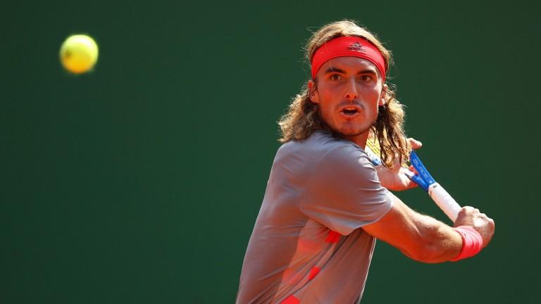 Stefanos Tsitsipas keeps his eye on the ball in Monte Carlo last week