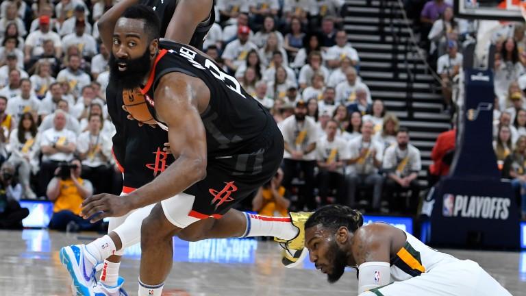Houston Rockets' MVP James Harden is battling a bloodshot left eye and blurred vision