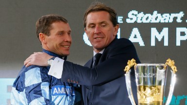 Richard Johnson (left) is not thinking about Tony McCoy's record amount of winners - yet