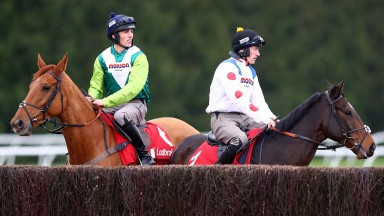 Harry Cobden (left) and Sam Twiston-Davies: title contenders?