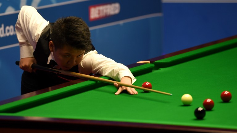 Talented Chinese youngster Zhou Yuelong looks as if he is maturing fast on the baize