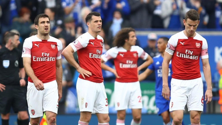 Arsenal were well beaten by Leicester