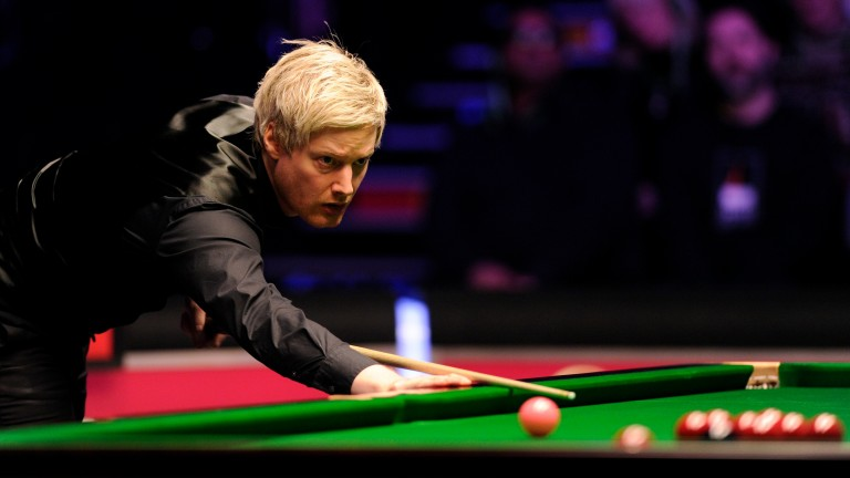 After a few days' rest Neil Robertson has a big chance to shine among the balls in his quarter-final