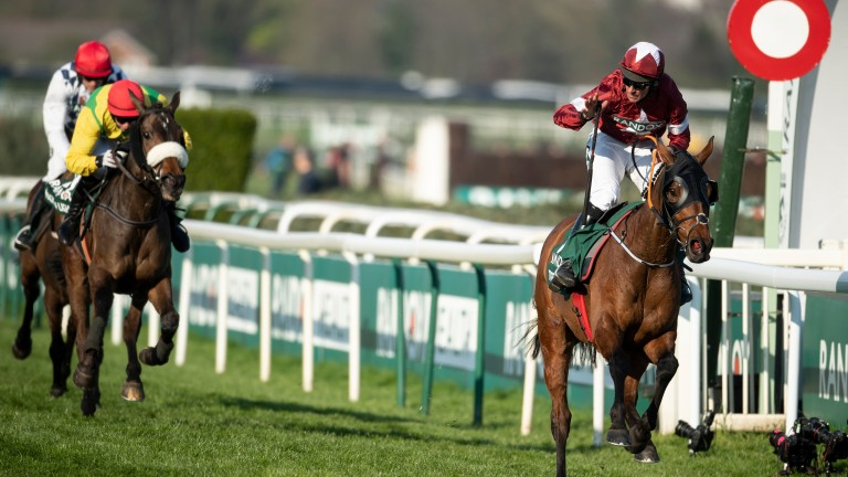 Tiger Roll claims his second consecutive Grand National under Davy Russell in 2019