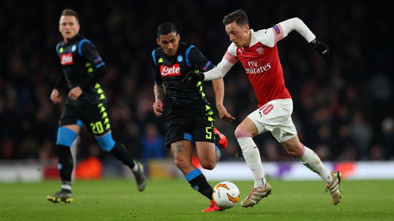 Mesut Ozil has looked more at ease in European matches
