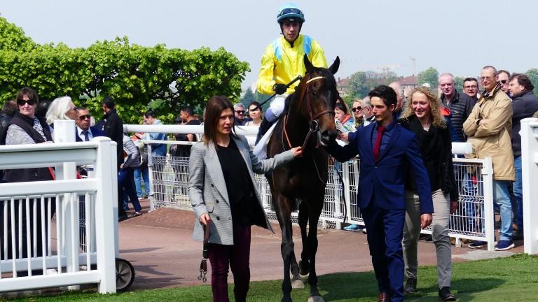 Cartiem and Cristian Demuro return after landing the Prix Penelope at Saint-Cloud on Wednesday