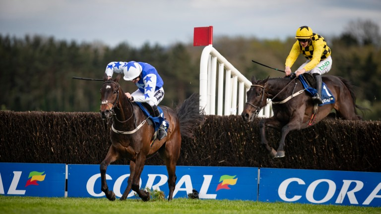 Ruby Walsh: drives Kemboy to success in the Punchestown Gold Cup