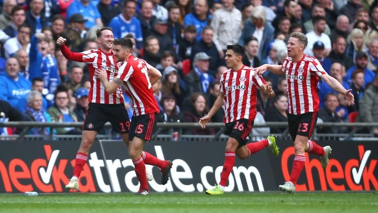 Sunderland's Aiden McGeady celebrates a goal