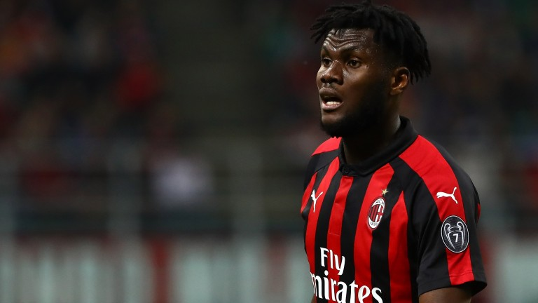 Franck Kessie of Milan looks on