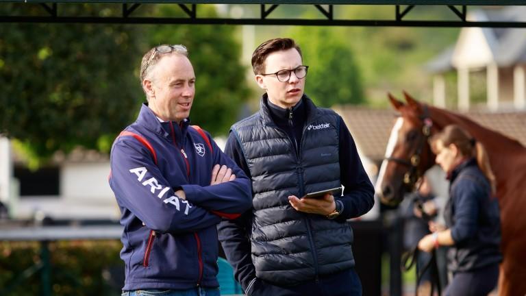 Brendan Holland (left) chats to Joseph O'Brien
