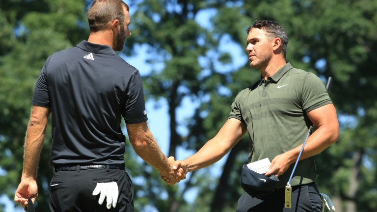Dustin Johnson (left) and Brooks Koepka played well in Houston