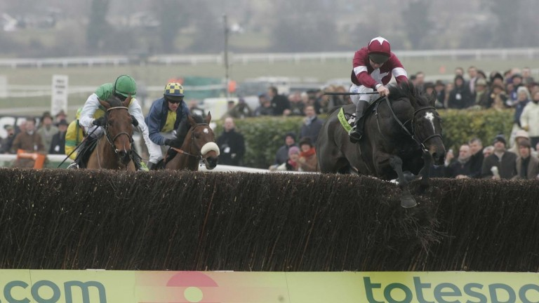 The mighty War Of Attrition clears the last en route to winning the 2006 Cheltenham Gold Cup