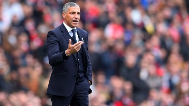 Chris Hughton could be on the move to West Brom