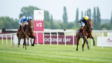 Crystal Ocean and Ryan Moore  win the Aston Park Stakes