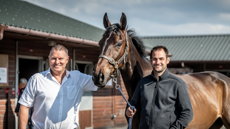Darren Yates and Phil Kirby strike a pose with £620,000 purchase Interconnected