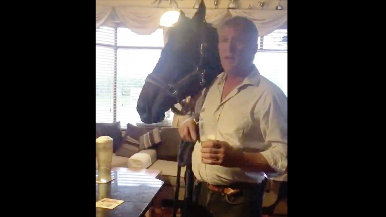 Tom Shanahan with Charle Brune in the Horse And Hound