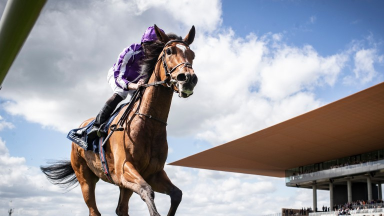 Top filly Magical and Ryan Moore run out easy winners of the 2019 Tattersalls Gold Cup