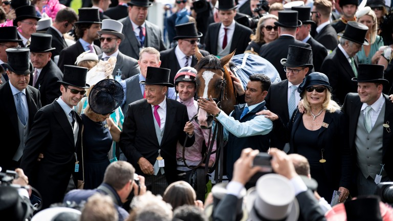 Connections with Anthony Van Dyck after last year's Derby win at Epsom