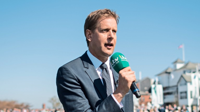 Ed Chamberlin hosts at Doncaster Racecourse