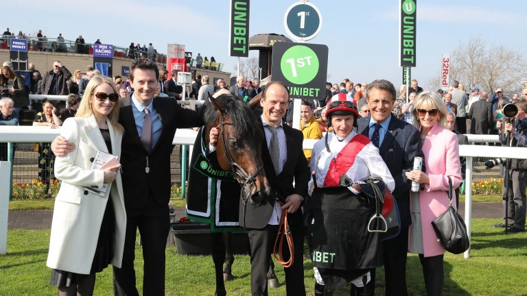 James Tate (second left) and PJ McDonald with Invincible Army