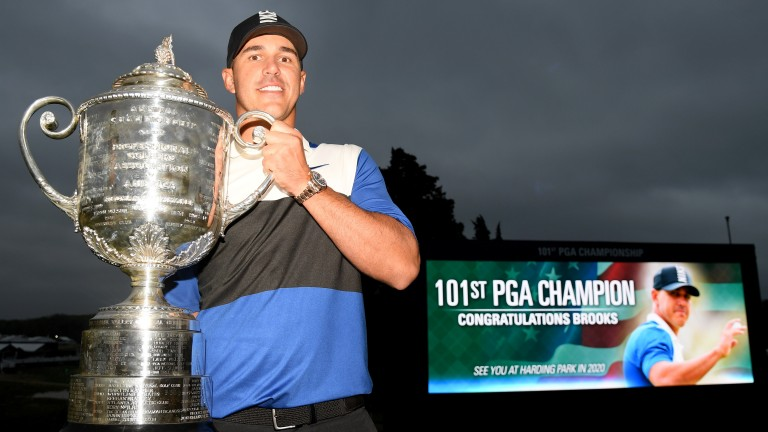 US PGA champion Brooks Koepka has another trophy in his sights