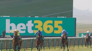 Bookmaker and big racing sponsor bet365 go big advertising at Newmarket