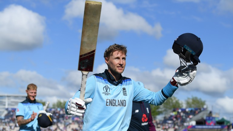 Joe Root enjoys England's eight-wicket victory over the West Indies