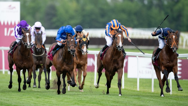 Temple Of Heaven (right): made it two from two at Newbury last time