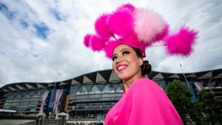 The hats come out for Ladies' Day