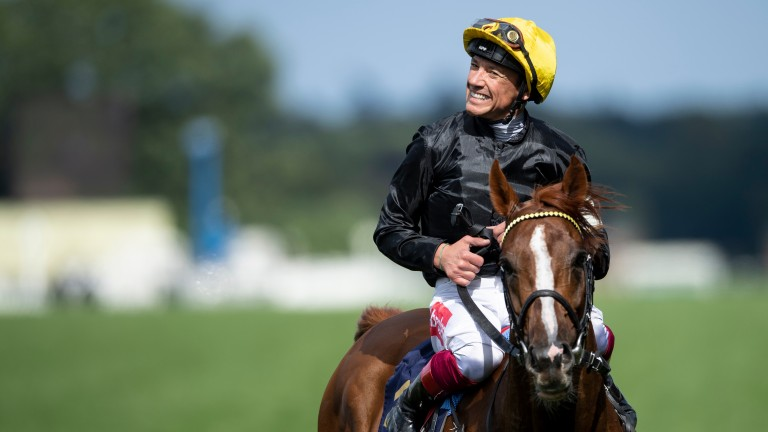 Frankie Dettori all smiles after winning last year's Ascot Gold Cup