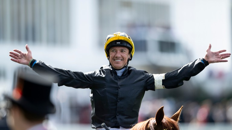 Frankie Dettori: celebrated a Royal Ascot four-timer last season
