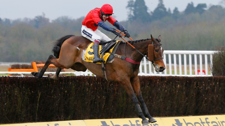 Houblon Des Obeaux and Aidan Coleman win The Betfair Denman Chase at Newbury