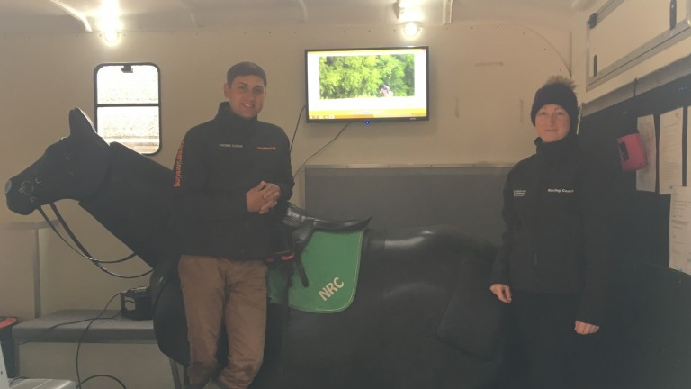 Russ Kennemore and Samantha Trainor ready to train the staff at James Given's yard