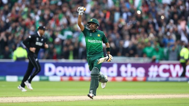 Pakistan's Babar Azam scored an unbeaten century against New Zealand at Edgbaston