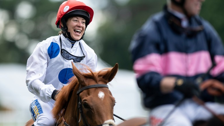 Unbridled joy: Hayley Turner is delighted after becoming only the second woman to ride a Royal Ascot winner