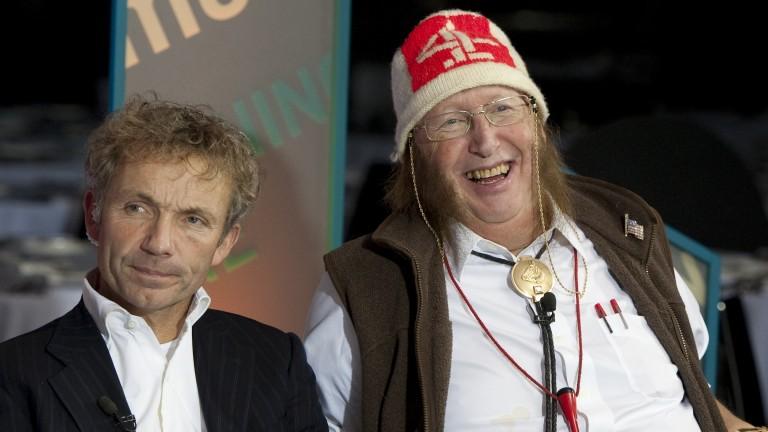John McCririck with John Francome, who he labelled 'The Greatest Jockey'