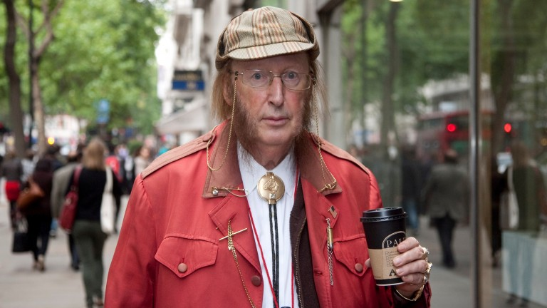 John McCririck attends the Central London Employment Tribunal for his case against Channel 4 in 2013