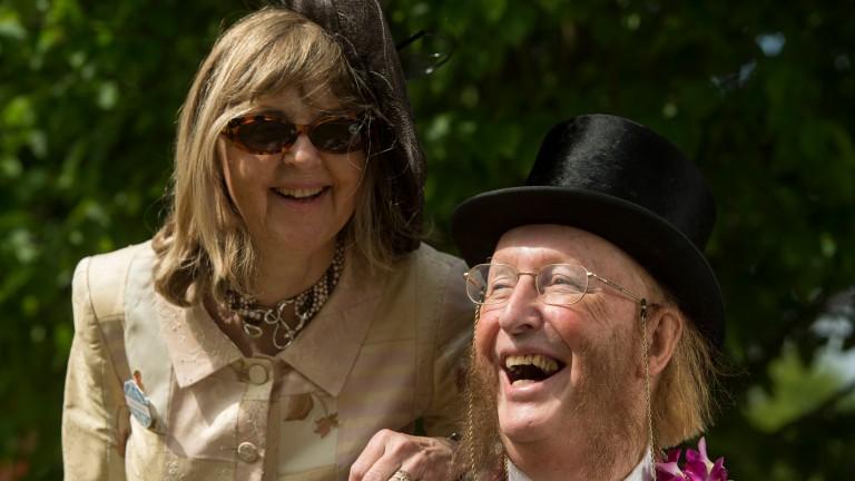 John and Jenny McCririck at Royal Ascot in 2014