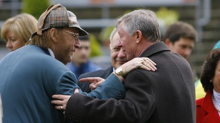 John McCririck and Sir Alex Ferguson are deep in conversation at Ascot in 2008