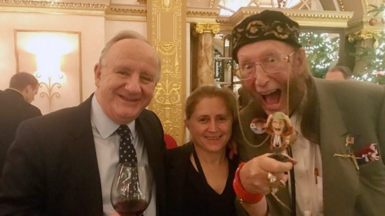 John McCririck with Laurence Robertson MP and his wife Annie