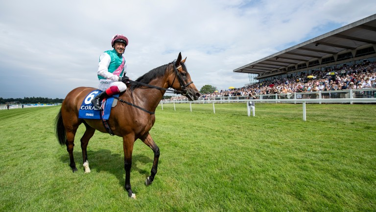 Enable has been given an official mark of 123 for her stylish comeback success in the Coral-Eclipse