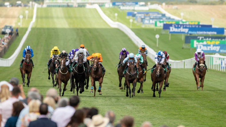 Action on Newmarket's July course: for racing to return, a number of things must happen