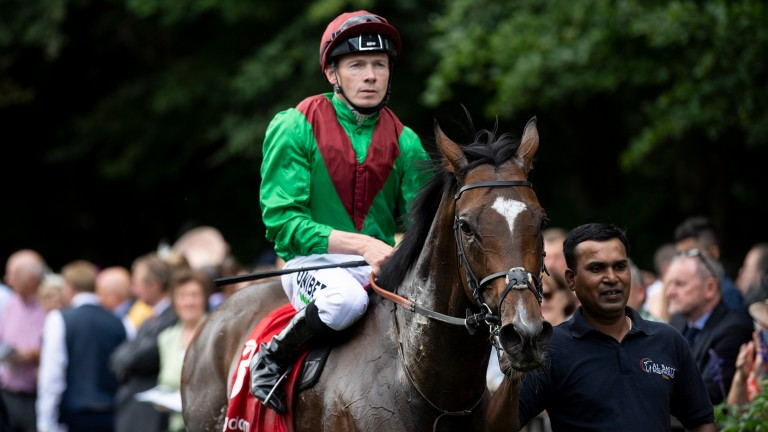 Jamie Spencer was successful in the Team Valor silks aboard Spanish Mission after coming from behind in the Bahrain Trophy