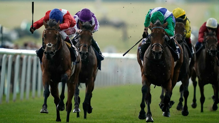 Veracious: earns a first Group 1 victory in the Falmouth Stakes at Newmarket