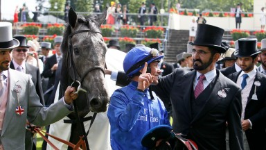 Colour Vision - Frankie Dettori winners lead in with Sheikh MohammedThe Gold CupRoyal Ascot 21/6/2012©Pic Mark Cranham