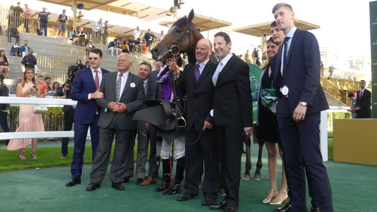 Japan and connections after winning the Grand Prix de Paris