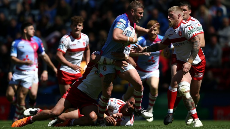 Danny Addy (right) returns to the Hull KR line-up