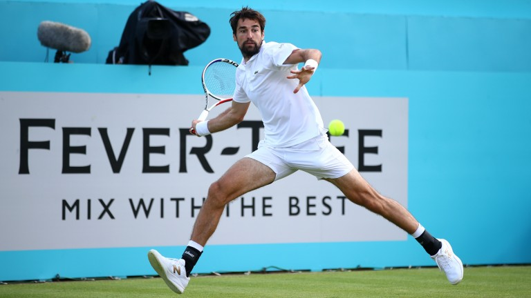 Jeremy Chardy in action at Queen's Club