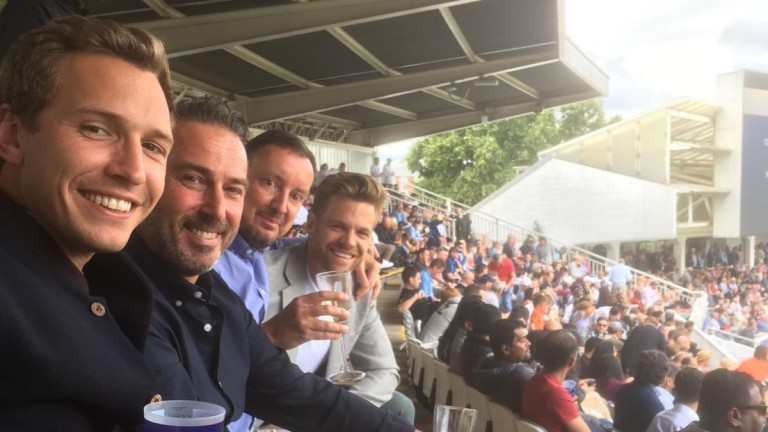 Oli Bell (left) and Tom Stanley (right) were at Lord's for the final of the 2019 Cricket World Cup