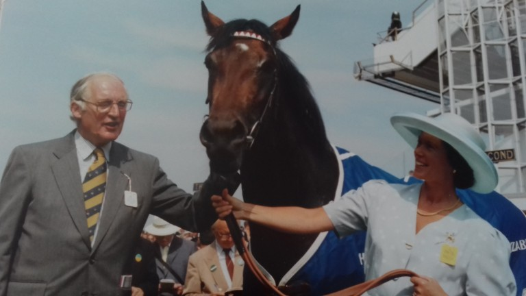 Michael and Carolyn Poland with King's Theatre after his victory at Ascot